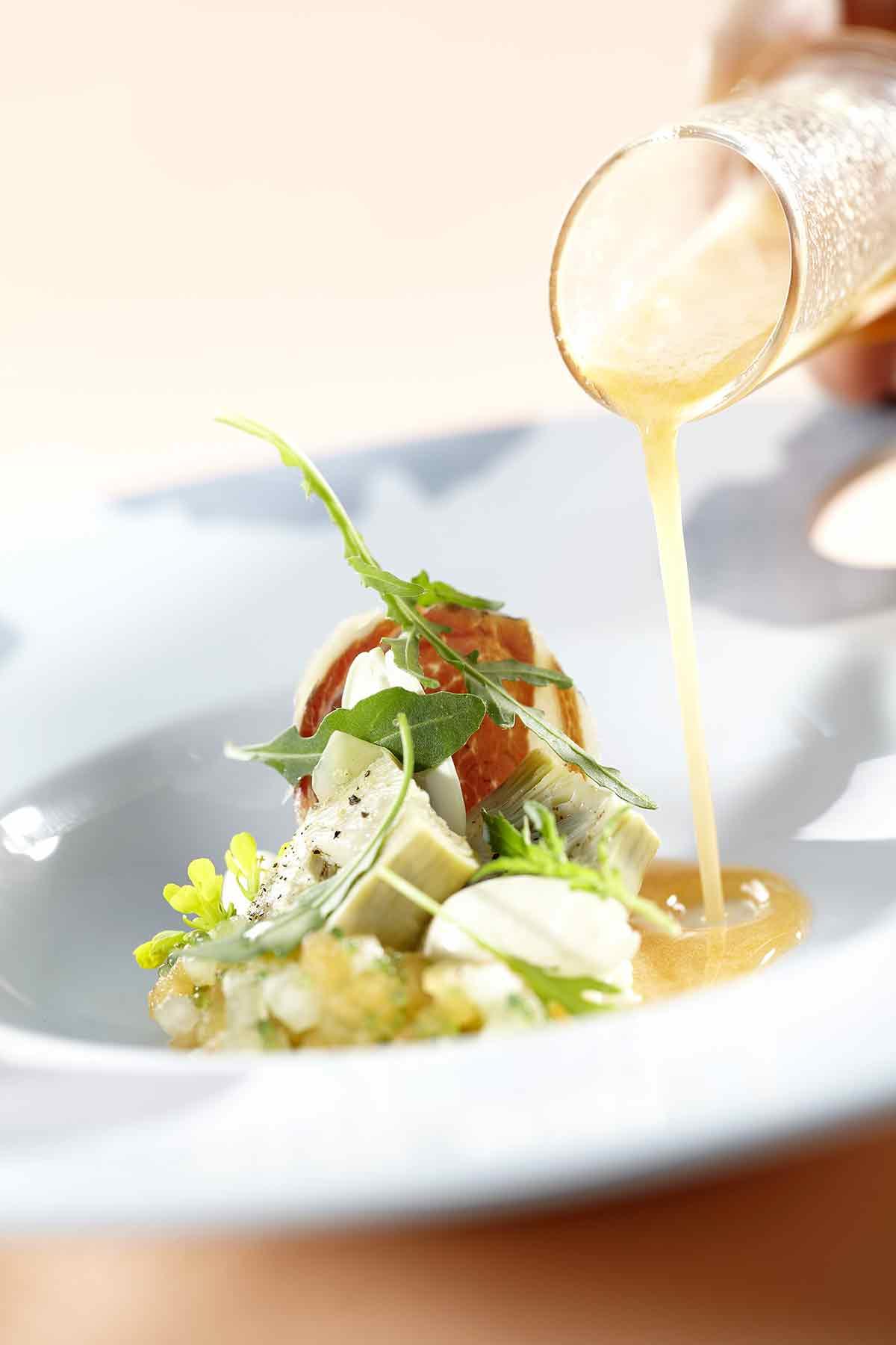 recette du chef Eric Guerin, restaurant la mare aux oiseaux et le jardin des plumes
