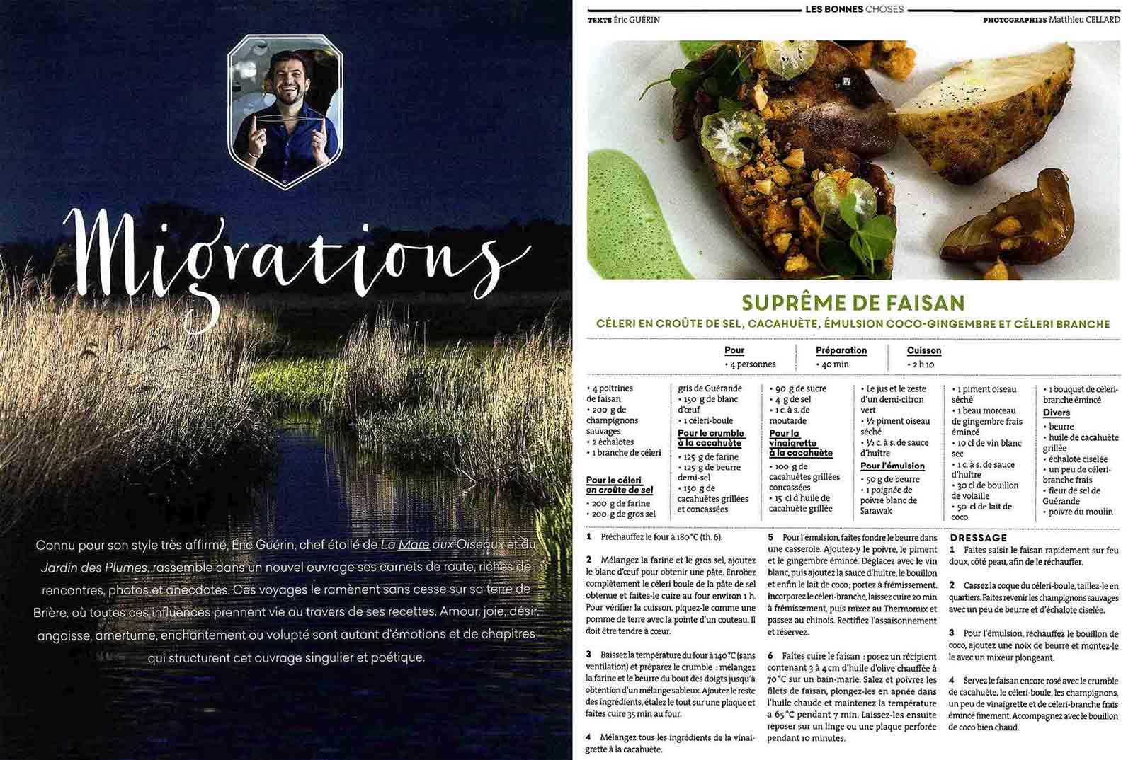 extrait de l'article consacré à Eric Guerin dans Fou de Cuisine numéro 2