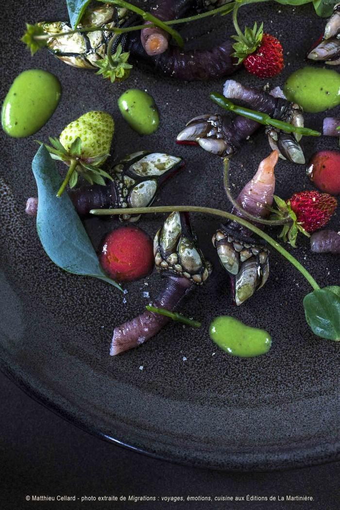 recette d'Eric Guerin mettant en avant avec le pouce-pied, un crustacé méconnu