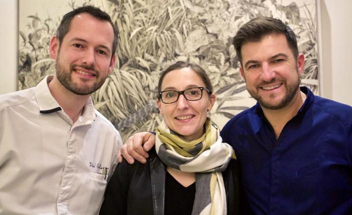 l'équipe du restaurant et hôtel le Jardin des Plumes une (1) étoile au guide Michelin.