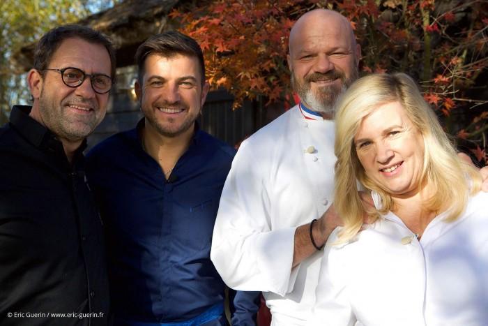 chefs étoilés dans le jardin du restaurant et hôtel la Mare aux Oiseaux